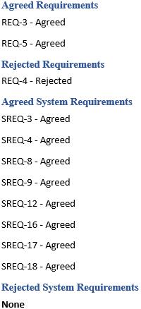 Рисунок 8. Пример опубликованного фрагмента на основе поименованной параметризации для нескольких типов элементов